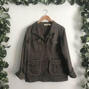 🆕DKNY Utility Jacket Green